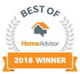 2018 Best of HomeAdvisor Award Winner